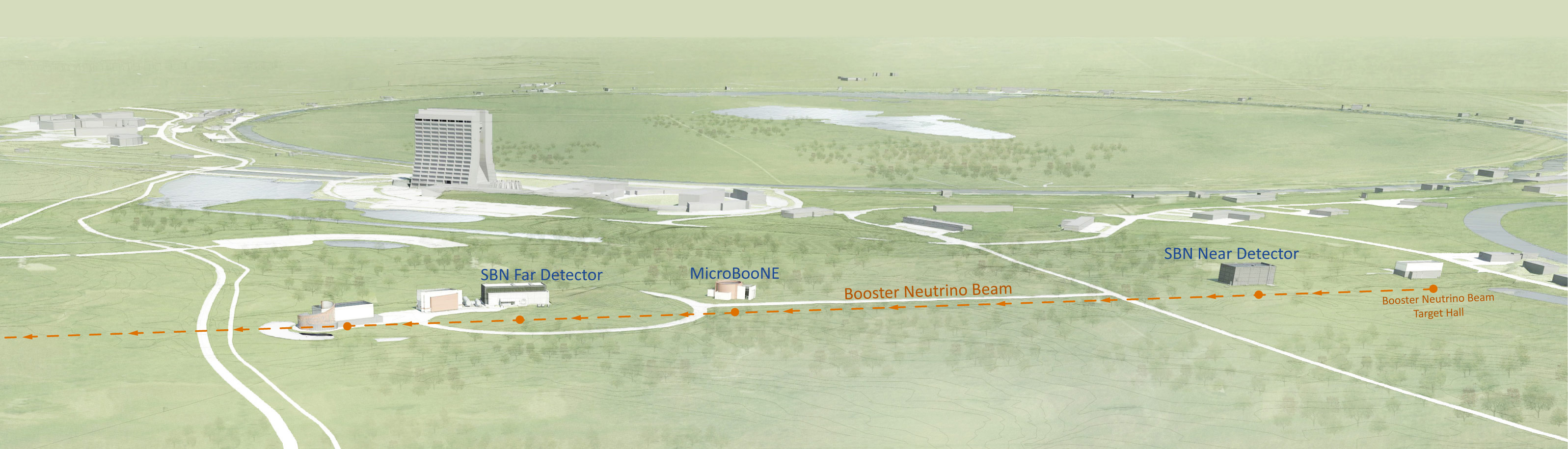 Fermilab Neutrino Campus Map